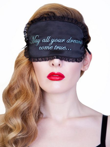 Playful Promises May All Your Dreams Come True Eye Mask