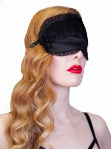 Playful Promises Black Tassel Eye Mask