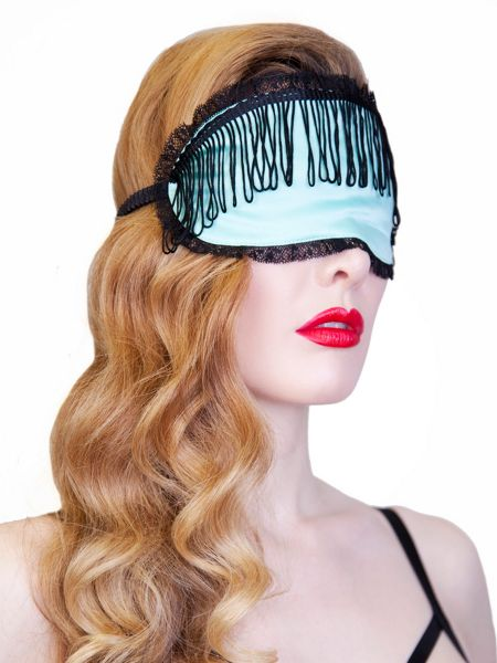Playful Promises Tasseled  Eye Mask