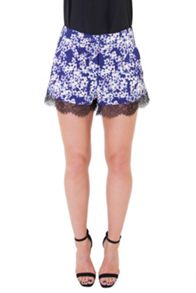 Wolf & Whistle Blossom Print Shorts
