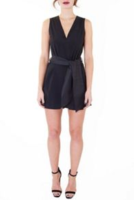 Black Tie Waist Playsuit