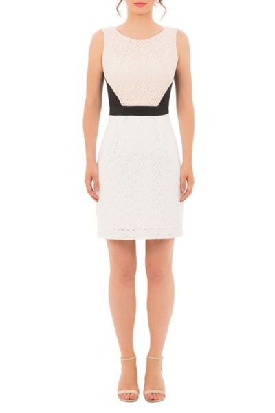 Wolf & Whistle Lace Colour Block Dress