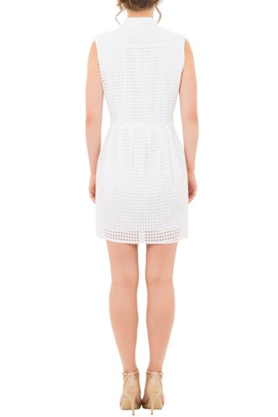 Wolf & Whistle Broderie Shirt Dress