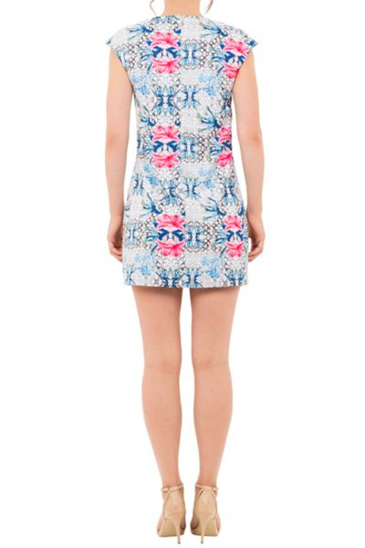 Wolf & Whistle Geometric Floral Shift Dress