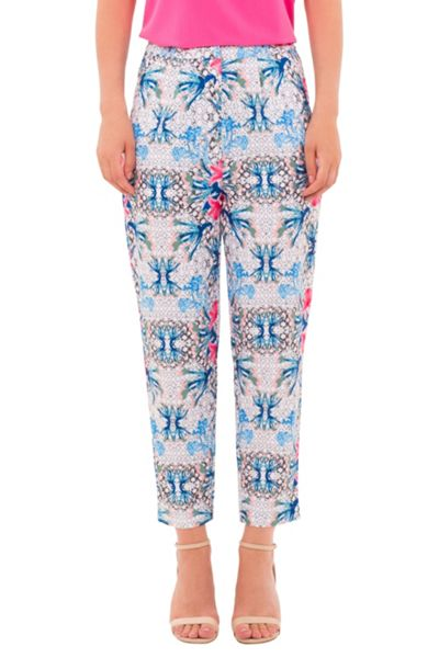 Wolf & Whistle Geometric Floral Print Trousers