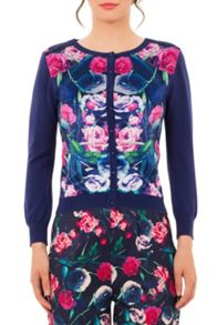 Wolf & Whistle Bird Floral Print Cardigan