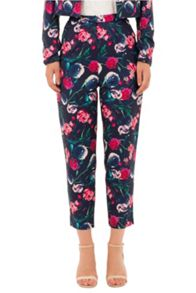 Wolf & Whistle Bird Floral Print Trousers
