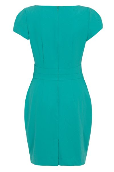 Wolf & Whistle Textured Tailored Dress Turquoise