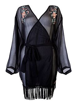 Emily embroidered robe