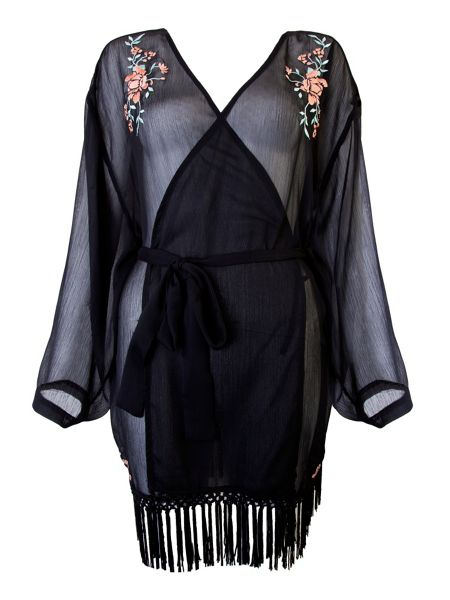 Playful Promises Emily embroidered robe