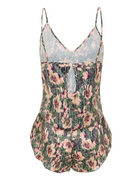 Playful Promises Lotus print playsuit