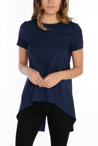 Alice & You Dip Hem Back Split Blouse