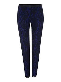 Slim lace trousers