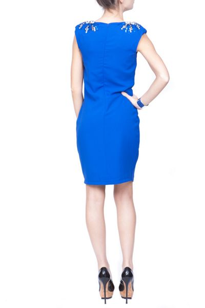 Indulgence Bodycon dress with shoulder diamante
