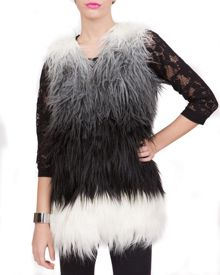 Colourful Faux fur Gillet