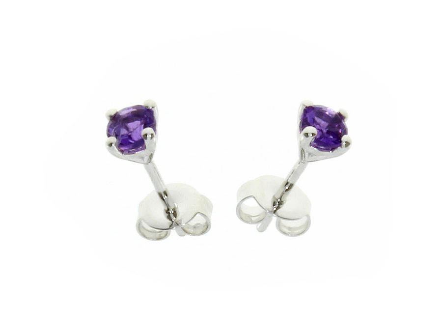 Classic Amethyst Stud Earrings