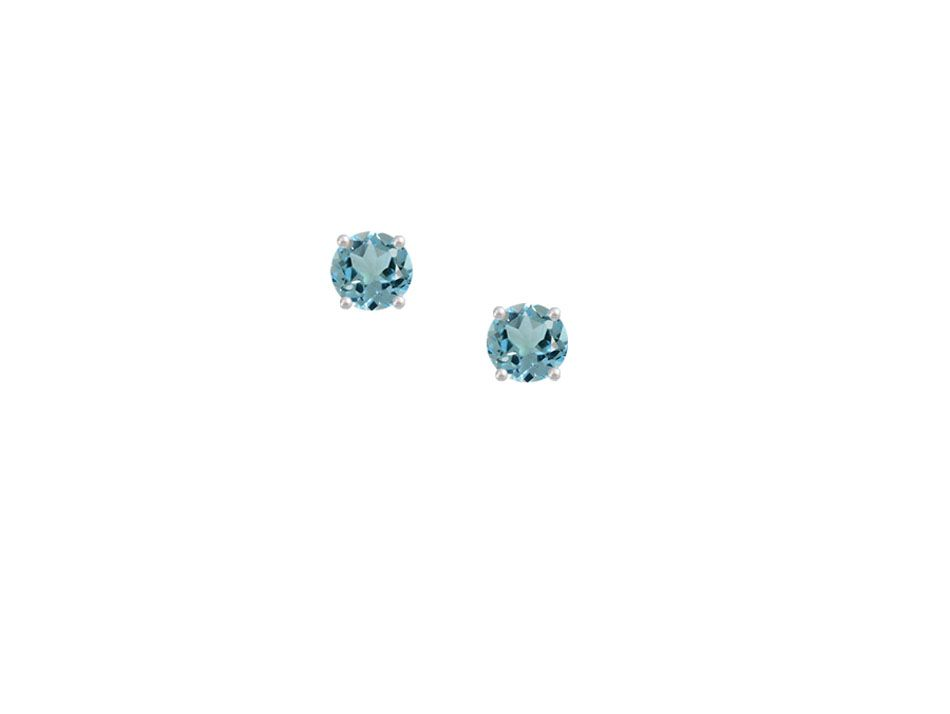 Classic Blue Topaz Stud Earrings