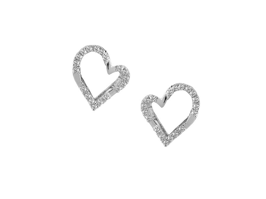 Heart Shape Cubic Stud Earrings