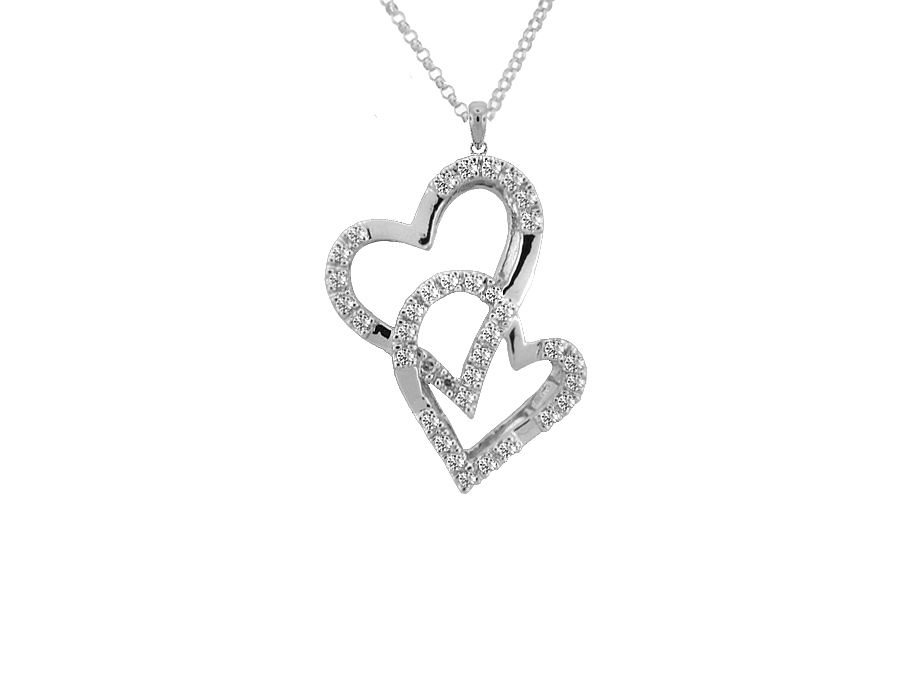 Entwined Hearts Cubic Necklace