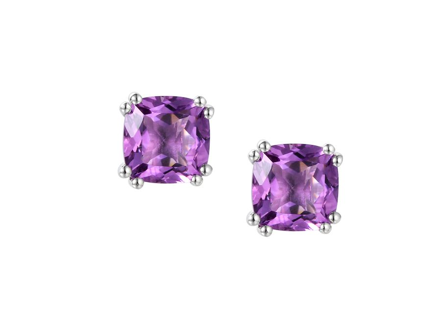 Vivacious violet earrings