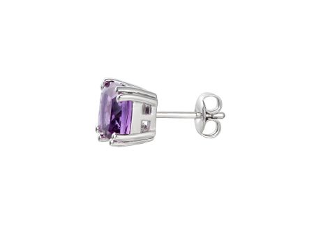 Amore Argento Vivacious violet earrings