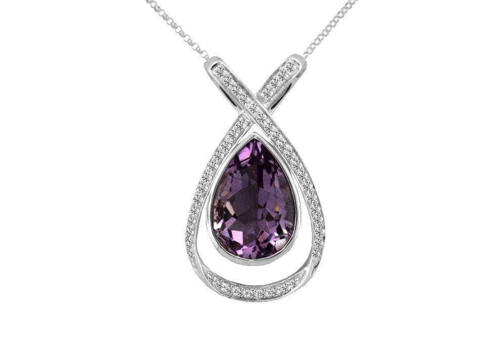 Tear Drop Amethyst Necklace