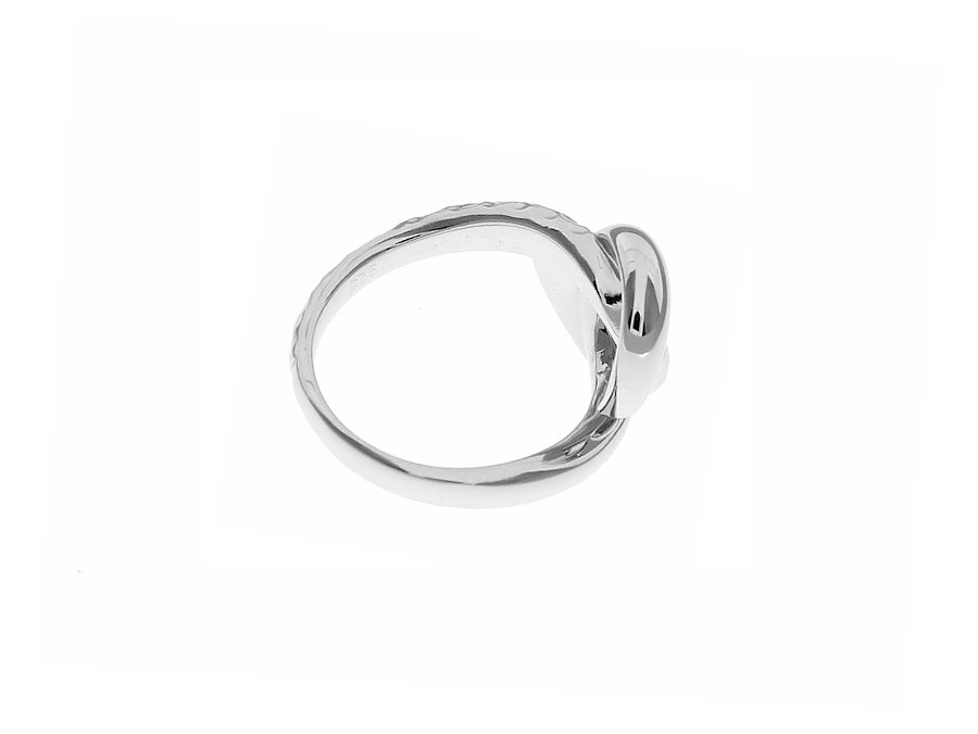 Entwined Hammered Silver Ring