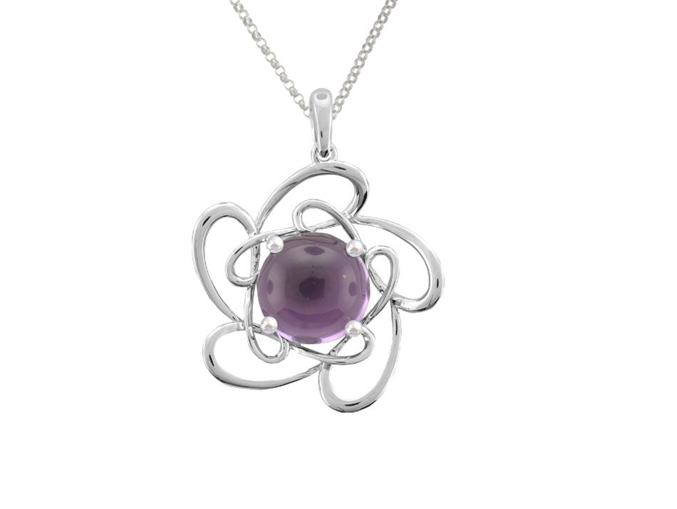 Swirly Amethyst Necklace