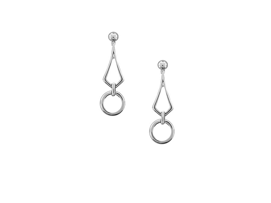 Silver Fancy Drop Earrings