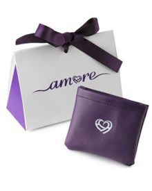 Amore Argento Swirly Tear Drop Amethyst Necklace