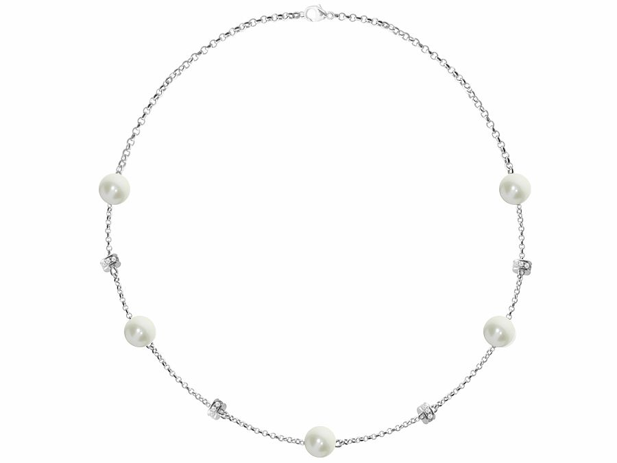 Rondelle and Freshwater Pearl Necklace