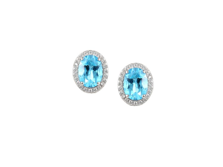 Regal blue earrings