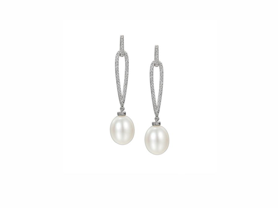 Pearldrop earrings