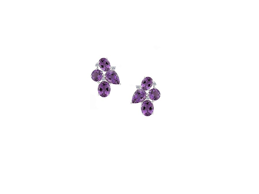 Purple rain cocktail earrings