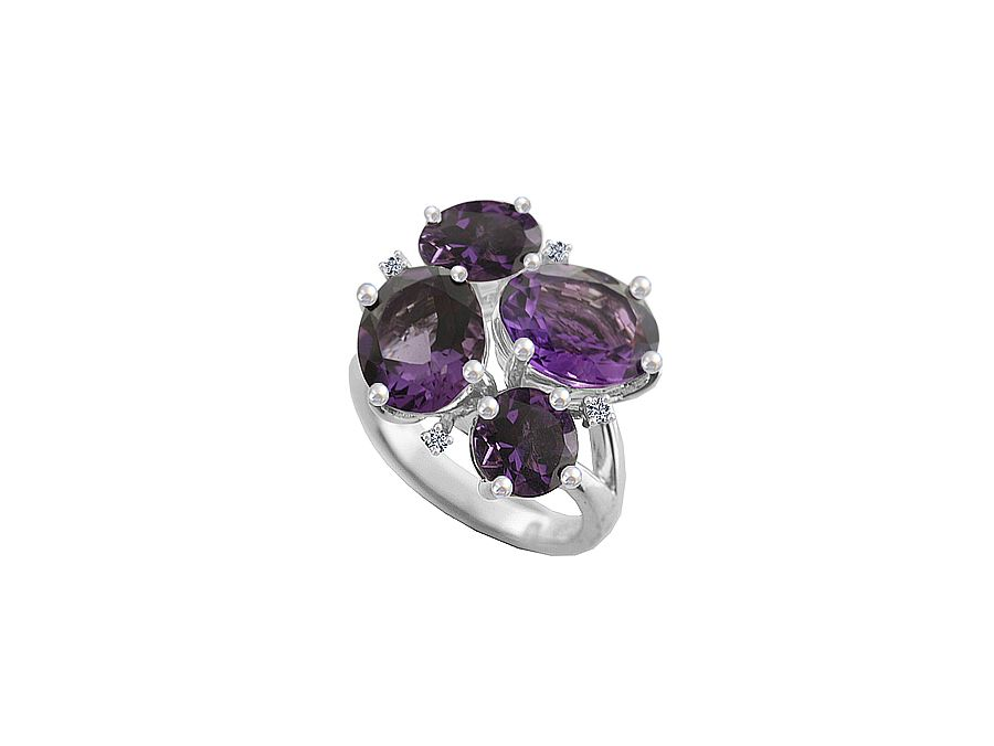 Purple rain cocktail ring