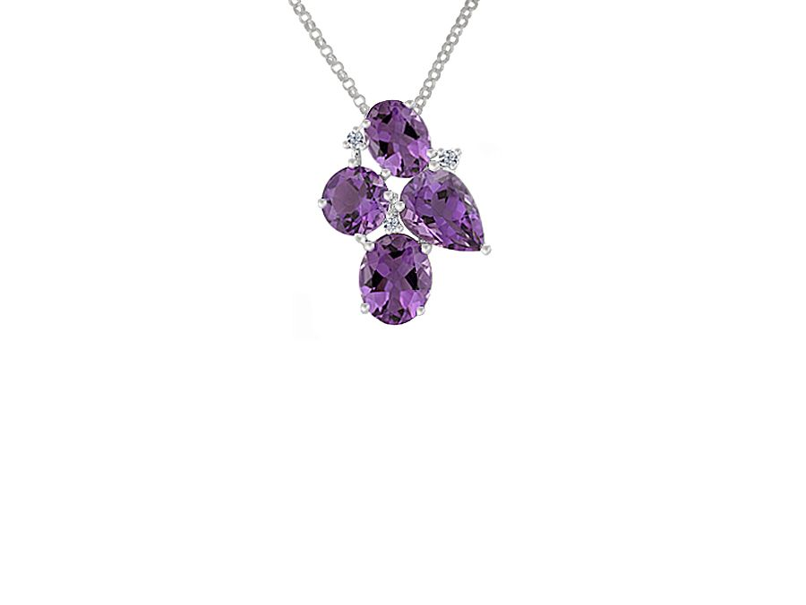 Purple rain cocktail necklace