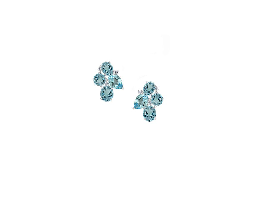 Blue moon cocktail earrings