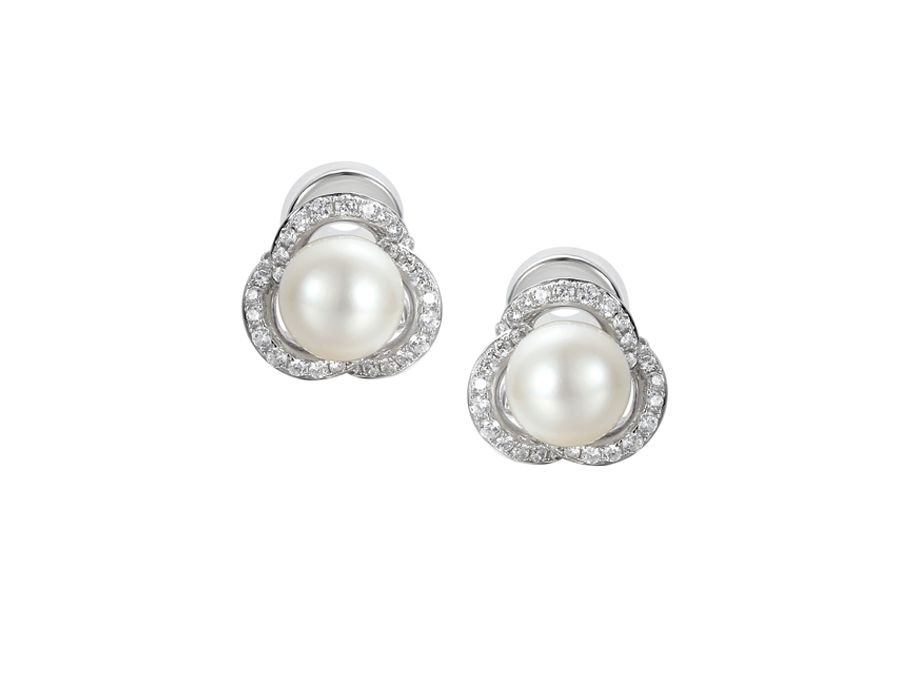 Dewdrop clip earrings