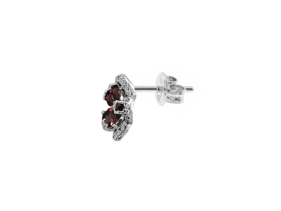 Camellia garnet earrings
