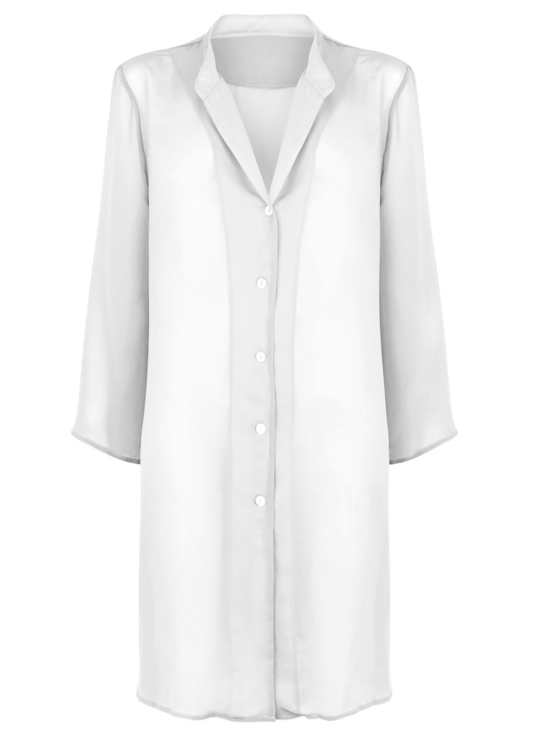 Seaspray Just plain chiffon shirt white, White
