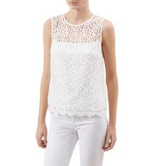 Hobbs Rosette Lace Top