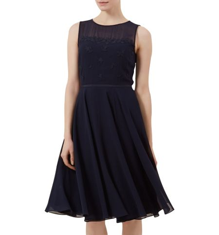 Hobbs Margot Embroidery Dress