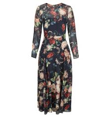 Hobbs Midnight Floral Dress