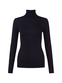 Lara Ribb Roll Neck