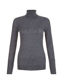 Lara Rib Roll Neck