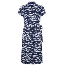 Hobbs Mono Print Wrap Dress