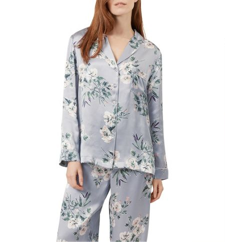 Hobbs Bloom Print Silk Pj Set
