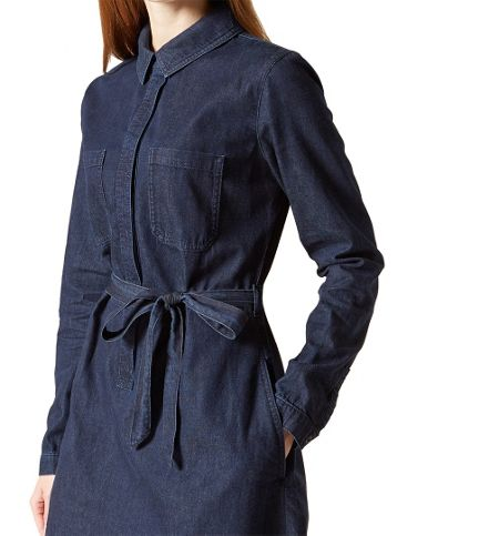 Hobbs Daniela Denim Dress