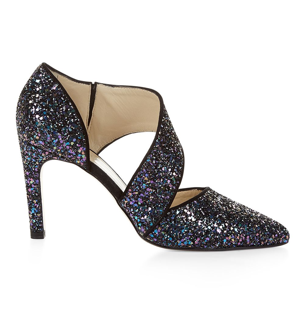 Hobbs Blue Glitter Shoes