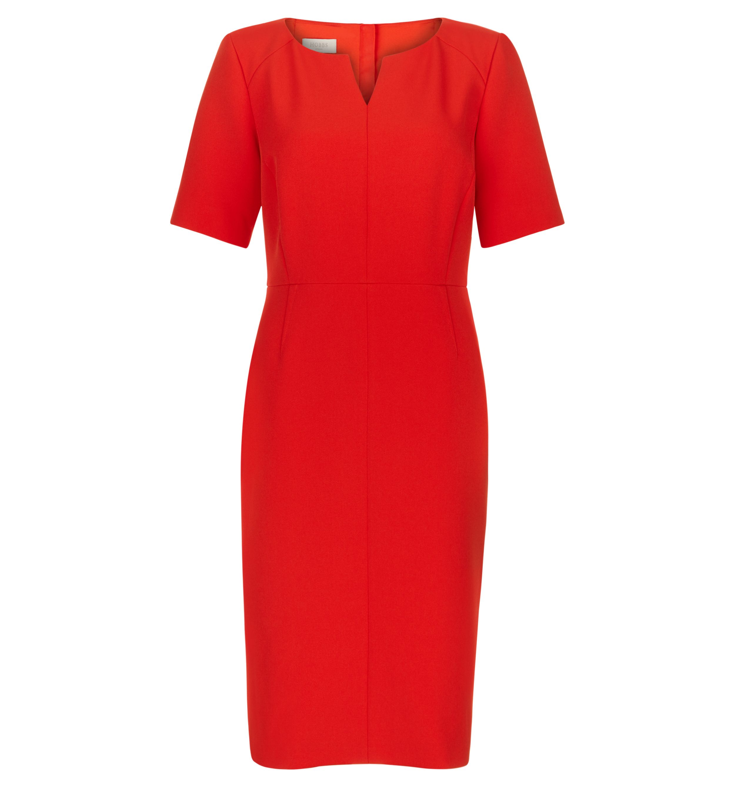 Hobbs Ponte Eimear Dress, Orange